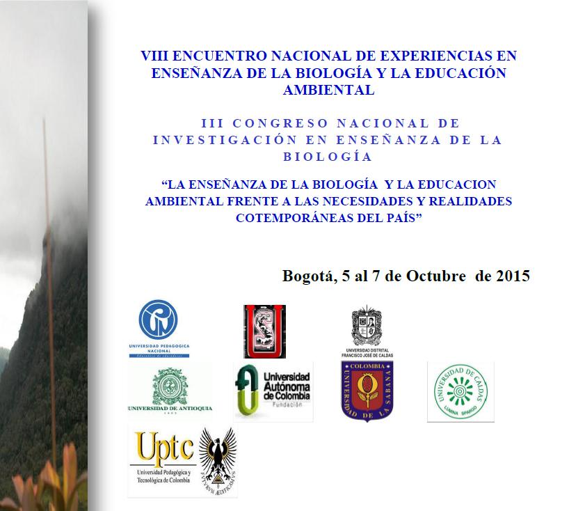 Enseñanza Biologia y Eduacción Ambiental Bogota 5 a 7 cotu2015