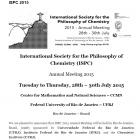 Simposio Internacional Filosofia de la Quimica  28 a 30 julo