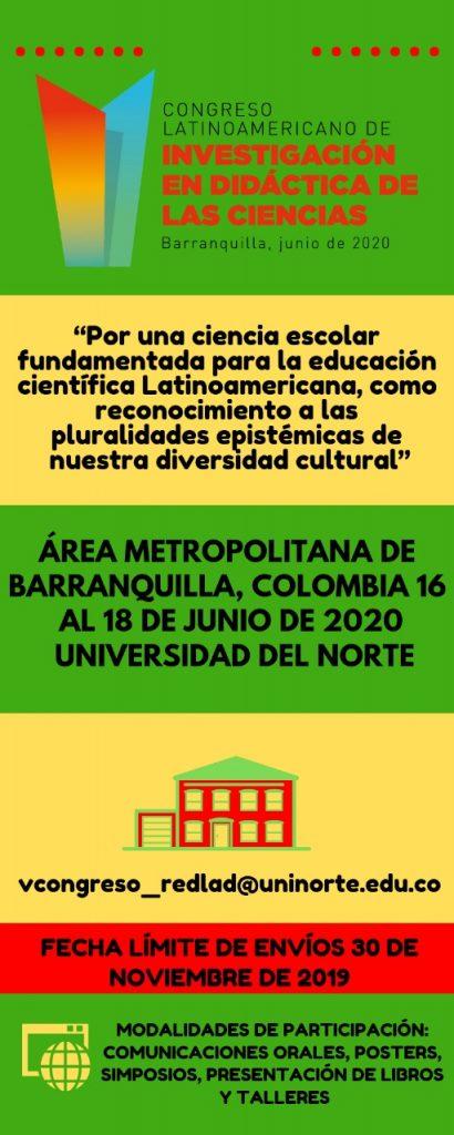 V Congreso Latinoamericano de Investigación en Didáctica de las Ciencias
